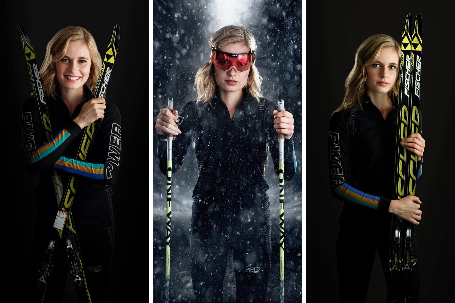 senior girl cross country ski