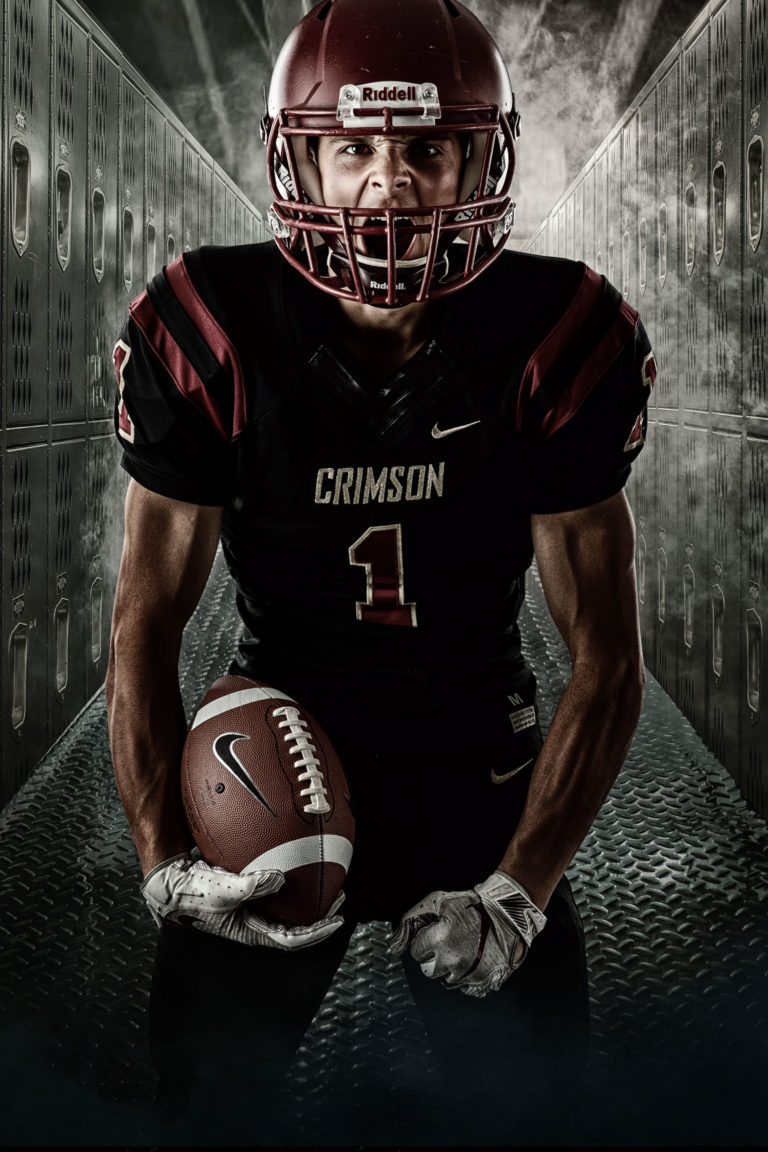 intense football - senior photoshoot