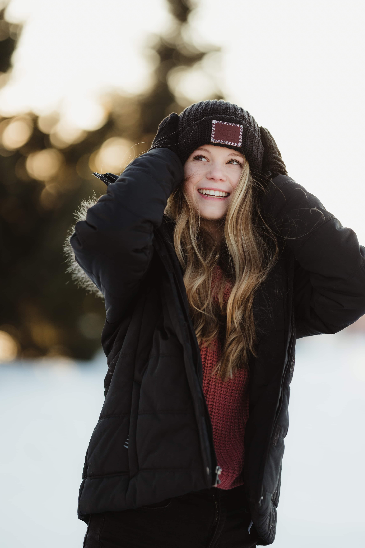 senior girl winter