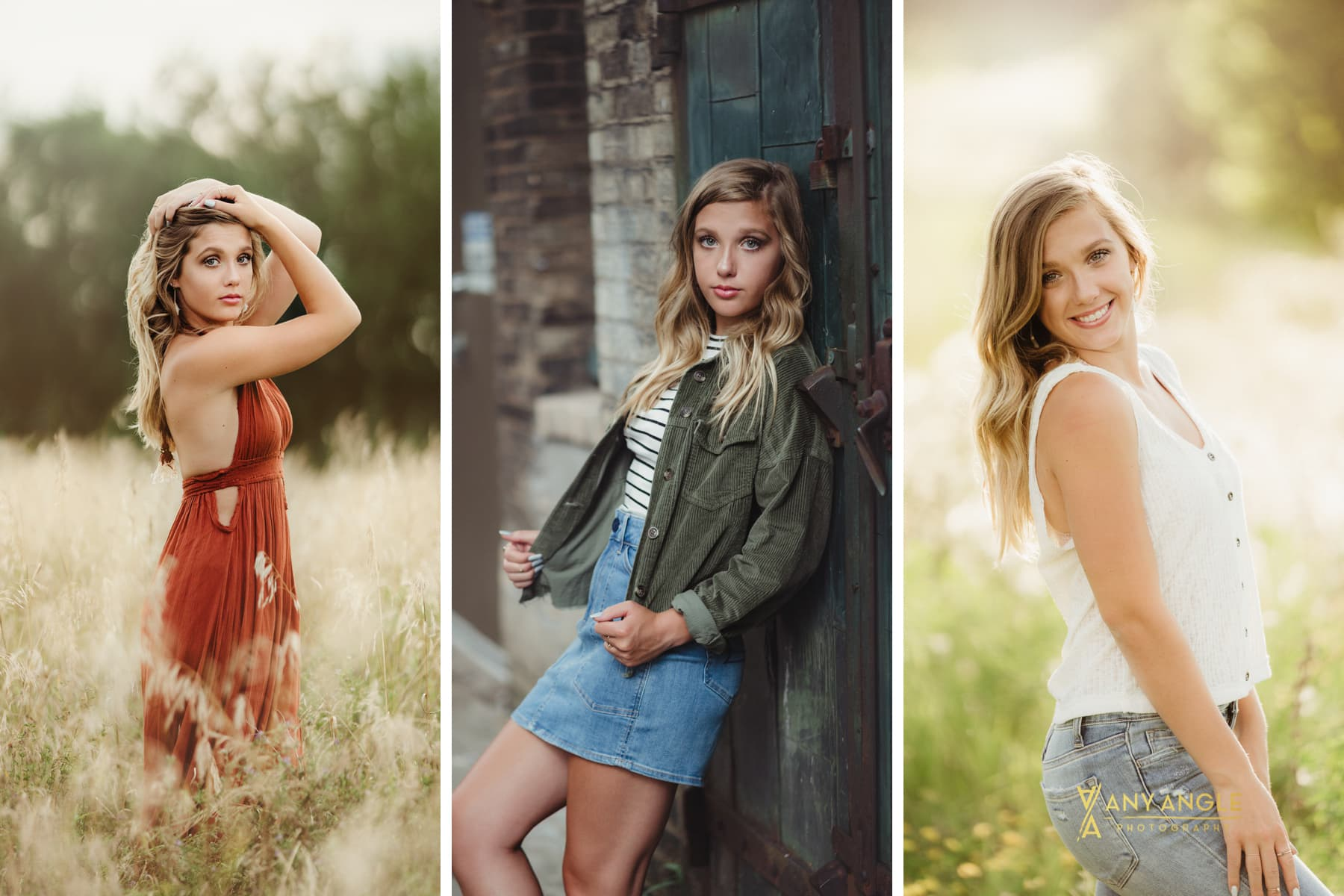 What to wear for your senior pictures.  Four outfits is a good number.